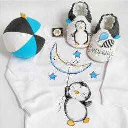 Pingvin sivo plavi komplet